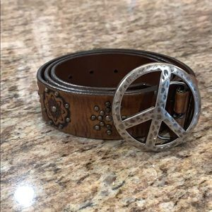 Brighton belt with peace buckle